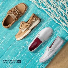 With its patented grooved sole, Sperry Top-Sider has been named the shoe of choice by The America's Cup and those with a sea -worthy sense for classic styles and adventures