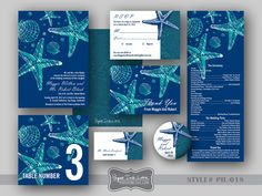 DIY Printable Wedding Invitations Beach Wedding DIY Wedding Program - Style PIL-018. $20.00, via Etsy.