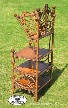 Tom and Kathleen Tetro specialize in American antique wicker furniture. Victorian Desks, Victorian Furniture, Victorian Homes, Vintage Furniture, Cane Furniture, Wicker Furniture, Furniture Styles, Unique Furniture, Antique China Cabinets