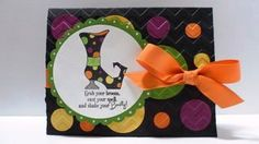 Peanuts and Peppers Papercrafting: Make It Monday - Stampin' Up Bootiful Occasions Halloween Card and Tutorial