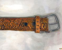 Artwork by Heather Horton inspired Chris McCandless' belt Christopher Mccandless Quotes, Alex Supertramp, Chris Johnson, Leather Craft, The Help, Carving, Artwork, Ap Literature, Movies