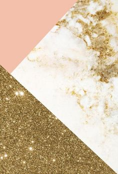 Pink and Gold Marble Collage als Alu-Dibond Druck