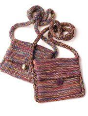 Easy bags to weave using odds and ends from your stash. Can be woven on a rigid-heddle loom or just two shafts.