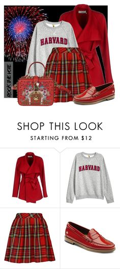 """""""Rock the Vote"""" by interesting-times ❤ liked on Polyvore featuring BGN, H&M, G.H. Bass & Co., Dolce&Gabbana and rockthevote"""