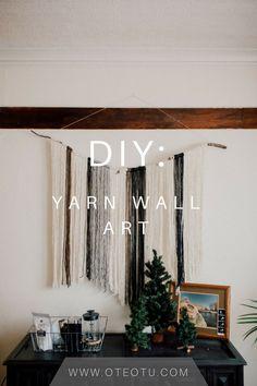 DIY Yarn Wall Art || Do It Yourself || Yarn Wall Hanging || Wall Art || Craft Project || Home Decor Project: Yarn Wall Art, Wall Art Crafts, Metal Tree Wall Art, Yarn Wall Hanging, Diy Wall Art, Wall Hangings, Diy Hanging, Diy Home Decor Projects, Easy Home Decor