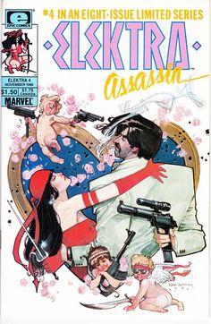 Elektra Assassin #4 (1st Series 1986) November 1986    Marvel Comics    Grade NM