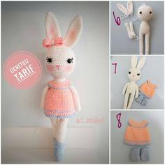 Image may contain: text Crochet Buttons, Crochet Motifs, Free Crochet, Crochet Baby, Crochet Patterns, Amigurumi Toys, Amigurumi Patterns, Diy Bath Mats, Crochet Bunny Pattern