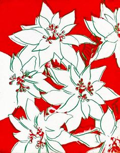 andy warhol christmas poinsettia
