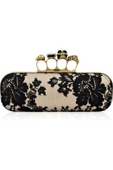 I'm going to buy some large, kitschy rings and re-create this Alexander McQueen clutch myself!
