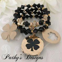 Quartet of genuine handmade glass bracelets in by PathysDesign