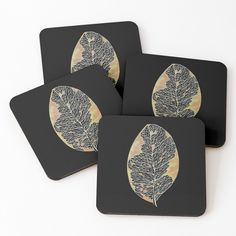 'Dried Leaf Coasters by Gracefulrebel Iphone Wallet, Black Backgrounds, Coasters, My Arts, Art Prints, Printed, Drawings, Awesome, Shop