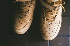 "check out 7e479 6015e Nike Air Force 1 Mid ""Wheat†(Flax Pack) Detailed Pics   Release Reminder"