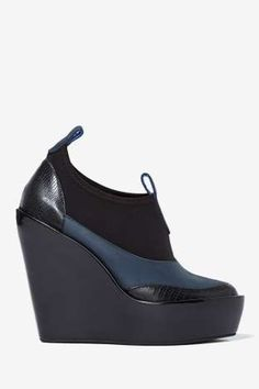 Jeffrey Campbell Soju Leather Wedge | Shop Boots at Nasty Gal