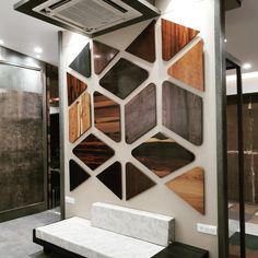 Trendy wall paneling ppt only on this page Showroom Interior Design, Tile Showroom, Interior Walls, Design Interiors, Home Decor Furniture, Furniture Design, Furniture Showroom, Kitchen Furniture, Wood Furniture
