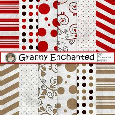 GRANNY ENCHANTED'S BLOG: Digital Scrapbook Christmas Paper Pack ♥♥Join 2,800 people. Follow our Free Digital Scrapbook Board. New Freebies every day.♥♥