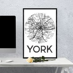 Personalised UK town or city map poster gift. An amazing present for someone who loves their native homeland, is moving away or has celebrating an important or romantic occasion in a beautiful town or city. City Map Poster, Map Art, Homeland, Kids Bedroom, Printmaking, House Design, Romantic, Art Prints, Amazing
