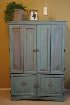 Cheap to Chic Chalk Armoire