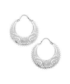 Look what I found on #zulily! Sterling Silver Filigree Hoop Earrings by Ottoman Silver Collection #zulilyfinds