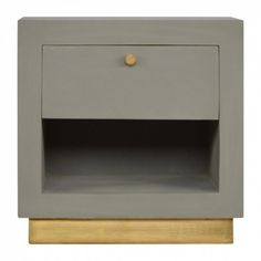 This Mango Hill Cement Bedside with Gold Detailing and Open Slot has been inspired by a clean, modern finish design and is constructed from Mango Wood. Online Furniture, Luxury Furniture, Vintage Furniture, Home Furniture, Furniture Design, Bedroom Furniture, 3 Drawer Bedside Table, Side Tables Bedroom, Side Table With Storage