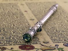 silver pen, magic wand))