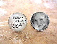 SALE - Custom Photo Father of the Bride Cufflinks - Silver Plated Gifts for Dad - Wedding Cufflinks - Picture Cuff Link - Fathers Day on Etsy, $27.00