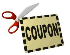 Use vouchers to get money off in supermarkets and clothes shops. #scissors #coupon #clipping