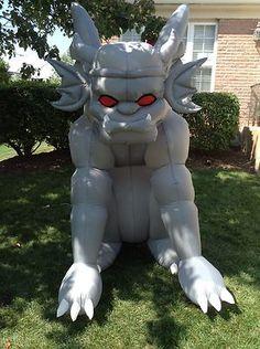 gemmy airblown inflatable gargoyle halloween yard decoration