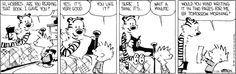 Calvin and Hobbes (It would be great if toys could help you with your homework.)