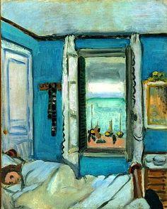 HENRI MATISSE (Francés: 1869 - 1954) Matisse fue el precursor del fauvismo, un movimiento caracterizado por el empleo pasional del color. Su nombre procede del calificativo (fauve = fiera) dado por el crítico de arte Louis Vauxcelles al conjunto de obras presentadas en el Salón de Otoño de París de 1905 / Étretat Interior (1920)