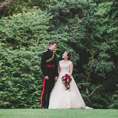 Nicole and Kieran on their wedding day at Langley Castle Wedding Flower Inspiration, Wedding Photography Inspiration, Wedding Flowers, Wedding Day, Wedding Dresses, Langley Castle, Military Wedding, Wedding Details, Wedding Hairstyles