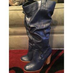 Tall Blue Heeled Boots Tall blue heeled boots. #colinstuart #colinstuartboots #tallboots #heeledboots #winterfashion #winterwear   Size 9 Colin Stuart Shoes Heeled Boots