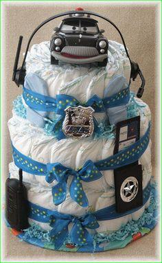 police diaper cake
