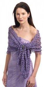 Free Crochet Pattern: Dagmar Hairpin Lace Wrap Shawl