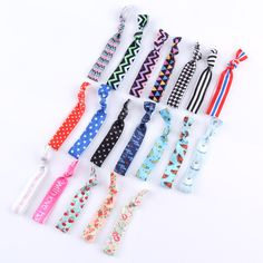 50PCS/Lot New Korean Brief Fashion Headbands For Women Print Cloth Fresh Girls Hair Rope Rubber Band Hair Rope Hair Accessories