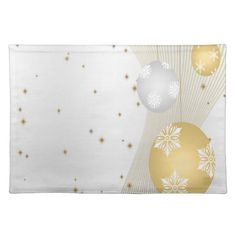 Silver and Gold Cloth Place Mat