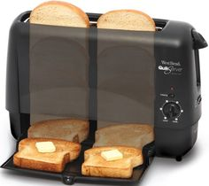 The 90 Second Toaster is among the fastest toasters made for home use, and makes the pop-up toaster passe.Price: $99.95