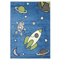 Magic Out in Space Blue Area Rug (5'3 x 7'7) - Overstock™ Shopping - Great Deals on Dynamic Rugs 5x8 - 6x9 Rugs