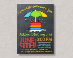 Splash Pad Birthday Invitation Splash Pad Invitation Splash