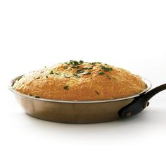 This fluffy omelet soufflé gets its airy lift from beaten egg whites. It bakes up very puffy with a lightly browned, cheesy dome top.