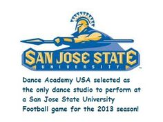 DAU students will have an opportunity to perform in front of 15-30K fans for the nationally ranked #SanJose State University Spartans! #SJSU #SanJoseSpartans   http://www.danceacademyusa.com/blog/2013/04/09/dance-academy-usa-selected-as-the-only-dance-studio-to-perform-at-a-san-jose-state-university-football-game-for-the-2013-season/