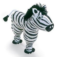 Zebra made out of plastic soda or water bottles.Zippy Zebra made out of plastic soda or water bottles. Zebra Party, Safari Party, Animal Crafts For Kids, Diy For Kids, Kids Crafts, Easy Crafts, Jungle Jaunt, Zebra Craft, Giraffe Crafts