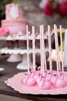 Flamingo cake pops from a First Birthday Flamingle Flamingo on Kara's Party Ideas | KarasPartyIdeas.com (22)