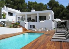 This Villa is located in private estate of Can Furnet. It has Panoramic sea view and Ibiza City. The villa is completely rebuild in modern standard. Green House Design, Ibiza Beach, Ibiza Fashion, Amazing Spaces, Outdoor Living, Outdoor Decor, Home Deco, Interior And Exterior, Beach House