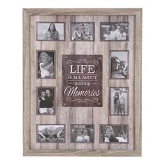 Life is About Making Memories Collage Frame