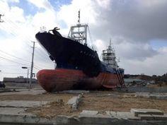Kesennuma Dai 18 Kyotokumaru -visiting Tsunami aftermath