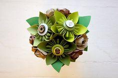Paper Flower Bouquet Toss Bouquet Wedding by TheLittleRedButton, $40.00