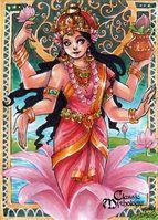 Lakshmi Sketch Card - Hanie Mohd by Pernastudios