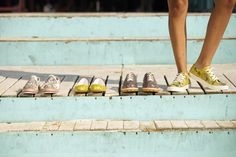 Which one to choose? / flat shoes / goby shoes / sneakers / ballerinas / yellow shoes / fashionista / goby