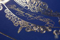 Script and gold foiling from The Fontainebleu Collection by J Grace