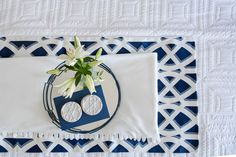 [New] The 10 Best Home Decor (with Pictures) - Fresh Linens You At Work, Custom Pillows, Custom Homes, Fabric Design, Designer, Nautical, Home Goods, Blue And White, Table Decorations